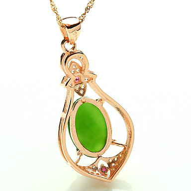 3f9dfbb94 Women's Pendant Necklaces Synthetic Emerald Jewelry Emerald Alloy Fashion  Euramerican Simple Style Jewelry For Wedding Party Birthday 5951668 2019 –  $5.99