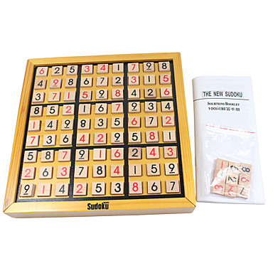 cheap Maze & Sequential Puzzles-Chess Game Sudoku Puzzles Square Wooden Unisex Gift