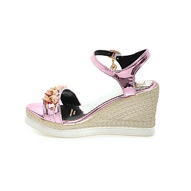 El Tobillo Tira En Mujer Confort Patentado Verano Zapatos Cuero FJcK1l