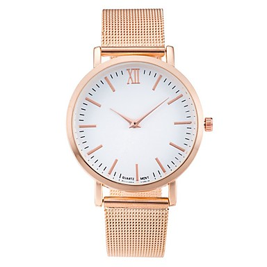 levne Dámské-Dámské Náramkové hodinky zlaté hodinky Křemenný Nerez Černá / Stříbro Hodinky na běžné nošení Cool Analogové dámy Na běžné nošení Módní Minimalistické - Zlatá Stříbrná Růžová Jeden rok Životnost
