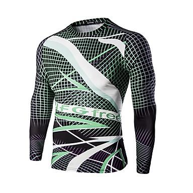 532c88ee25fc Pánské Dlouhý rukáv Cyklodres - Zelená   černá Sporty Potisk Kolo Trička  Mikina Vrchní část oděvu