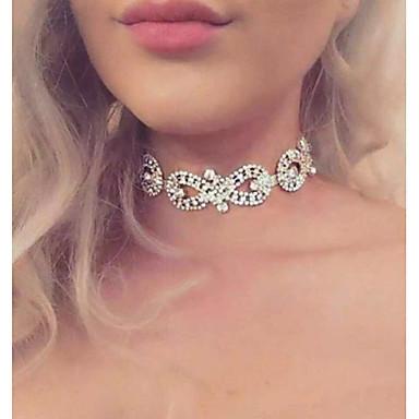 povoljno Modne ogrlice-Žene Choker oglice beskraj dame Luksuz Moda Euramerican Legura Zlato Pink Ogrlice Jewelry Za Vjenčanje Party Cosplay nošnje