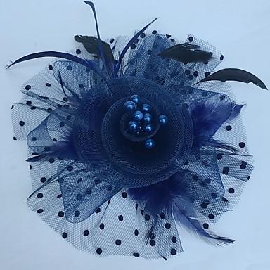 levne Klobouk na party-Fascinátory / Klobouky / Doplňky do vlasů s Květiny 1ks Zvláštní příležitosti Přílba