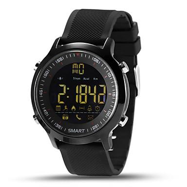 levne Dámské-Pánské Inteligentní hodinky Digitální hodinky Digitální Silikon Vícebarevný 30 m Voděodolné Monitor pulsu Kalendář Digitální Přívěšky - Stříbrná Oranžová Zelená Dva roky Životnost baterie / Krokoměry