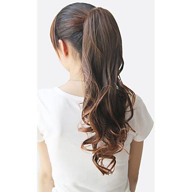 halpa Poninhännät-Poninhännät Karhu Claw / Jaw Clip Synteettiset hiukset Hiuspalanen Hiusten pidennys Kihara