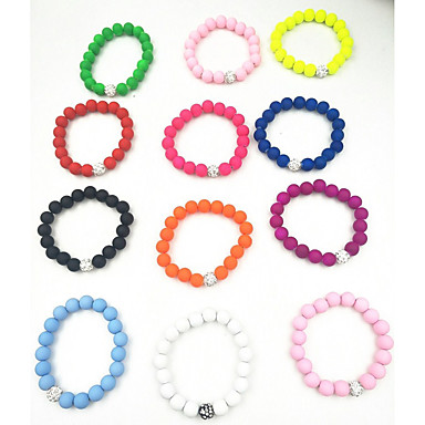 levne Dámské šperky-Dámské Korálkový náramek dámy Vintage příroda Módní Pryskyřice Náramek šperky Zelená / Růžová / Světle modrá Pro Dar