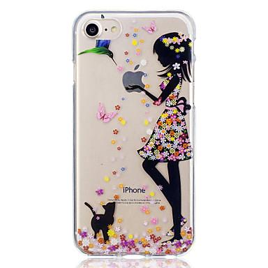 povoljno iPhone maske-Θήκη Za Apple iPhone 7 Plus / iPhone 7 / iPhone 6s Plus Uzorak Stražnja maska Mačka / Seksi dama Mekano TPU