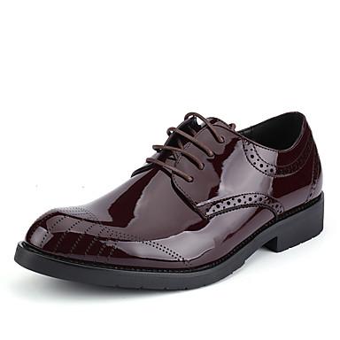 Hombre Zapatos PU Primavera Confort Oxfords Negro / Marrón / Zapatos formales f2K4BG