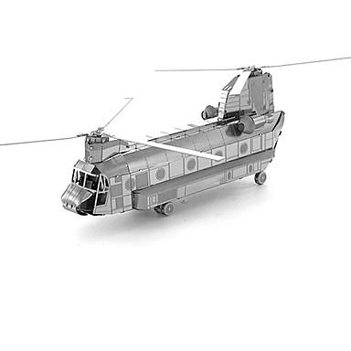 voordelige 3D-puzzels-3D-puzzels Metalen puzzels Helikopter Plezier Metaal Klassiek Kinderen Unisex Speeltjes Geschenk