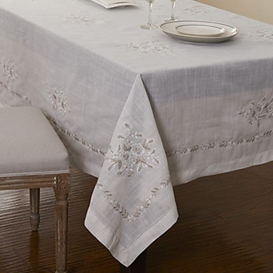 Cotton Blend Table Cloth Patterned Eco Friendly Table Decorations 1