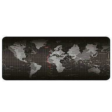 cheap Awesome Gaming Devices-Gaming Mouse Pad - Portable Large Desk Pad - Non-slip Rubber Base World Map Mouse Pad(30x80x0.2cm)