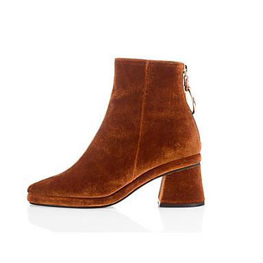 adf6fd71e4d2 Γυναικεία Παπούτσια Σουέτ   Μικροΐνα Άνοιξη Μπότες Μαύρο   Πράσινο Χακί    Κάμελ 5959427 2019 –  49.99