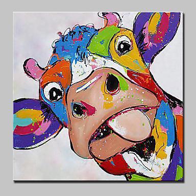 povoljno Ulja na platnu-Hang oslikana uljanim bojama Ručno oslikana - Životinje Suvremena suvremena Uključi Unutarnji okvir / Prošireni platno