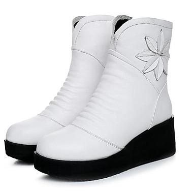 7c35a0508b7 Dámské Boty Nappa Leather Kůže Jaro Pohodlné Boty Pro Ležérní Bílá Černá  5961255 2019 –  59.99