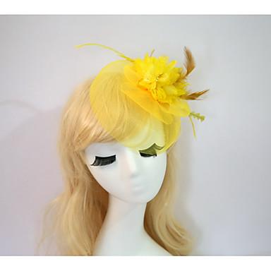povoljno Party pokrivala za glavu-Drago kamenje i kristali / Til / Smola Fascinators / Cvijeće / kape s Kristal / Perje 1 Vjenčanje / Special Occasion / Halloween Glava