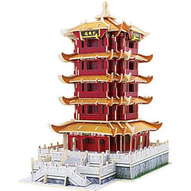 voordelige 3D-puzzels-Robotime 3D-puzzels Legpuzzel Modelbouwsets Toren Beroemd gebouw DHZ Puinen Klassiek Unisex Speeltjes Geschenk