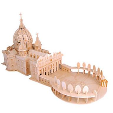 levne 3D puzzle-3D puzzle Puzzle Dřevěné puzzle Kostel Katedrála Udělej si sám Přírodní dřevo Klasické Dětské Unisex Hračky Dárek