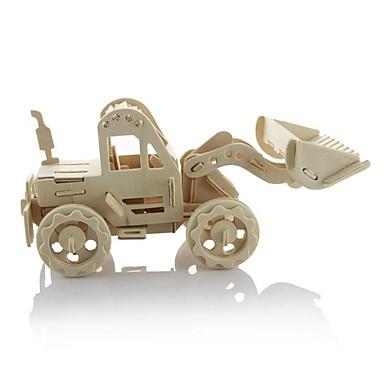 voordelige 3D-puzzels-3D-puzzels Houten puzzels Houten modellen Automatisch Graafmachine 3D DHZ Puinen Klassiek Bulldozer Kinderen Speeltjes Geschenk