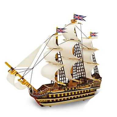 levne 3D puzzle-3D puzzle Kovové puzzle Modele Válečná loď Udělej si sám Přírodní dřevo Klasické Dětské Dospělé Unisex Hračky Dárek