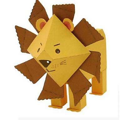 voordelige 3D-puzzels-3D-puzzels Bouwplaat Modelbouwsets Leeuw Dieren DHZ Klassiek Cartoon Kinderen Unisex Speeltjes Geschenk