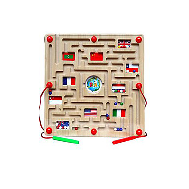 cheap Maze & Sequential Puzzles-Maze Magnetic Maze 1 pcs Wooden Magnetic Kid's Toy Gift