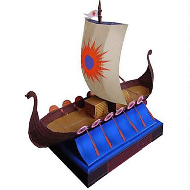 levne 3D puzzle-3D puzzle Loď Pirátská loď Pirát Udělej si sám lepenkový papír Dětské Unisex Hračky Dárek