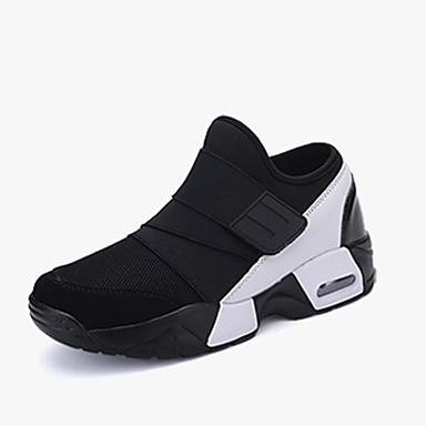 [$24.99] Homme Polyuréthane Printemps Automne Confort Basket Course à Pied Noir Noir blanc Noir Rouge