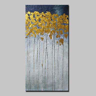 povoljno Ulja na platnu-Hang oslikana uljanim bojama Ručno oslikana - Sažetak Sažetak Moderna Bez unutrašnje Frame / Valjani platno