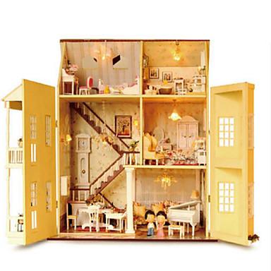 voordelige 3D-puzzels-CUTE ROOM 3D-puzzels Modelbouwsets Houten modellen DHZ Beroemd gebouw Huis Kunststoffen Puinen Klassiek Kinderen Volwassenen Unisex Jongens Meisjes Speeltjes Geschenk