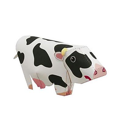 levne 3D puzzle-3D puzzle Papírové modely Cow Zvířata Udělej si sám lepenkový papír Dětské Unisex Hračky Dárek
