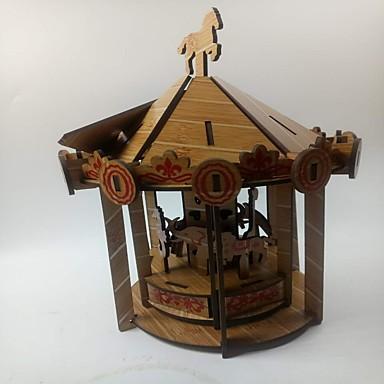 levne 3D puzzle-3D puzzle Puzzle Kůň Kolotoč Veselé kolo Dřevěný Dětské Unisex Chlapecké Hračky Dárek