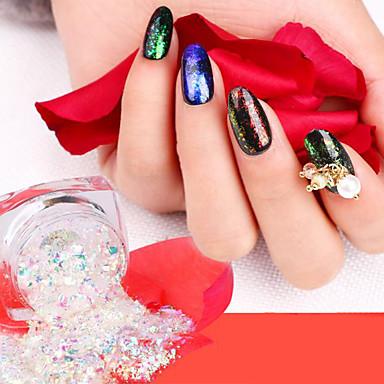 levne Nové přílety pro nehty-Glitter Flitry Pro 12 barev nail art manikúra pedikúra Klasické / Lesklé / Půvab Denní