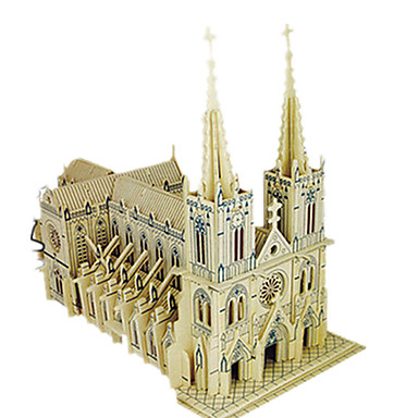 levne 3D puzzle-3D puzzle Puzzle Modele Kostel Udělej si sám Simulace Dřevěný Klasické Dětské Dospělé Unisex Hračky Dárek