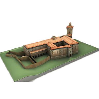 levne 3D puzzle-3D puzzle Papírové modely Modele Hrad Slavné stavby Udělej si sám Klasické Unisex Hračky Dárek