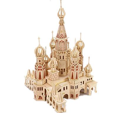 levne 3D puzzle-3D puzzle / Puzzle / Modele Hrad / Slavné stavby / Dům Udělej si sám Dřevěný Klasické Dětské Unisex Dárek
