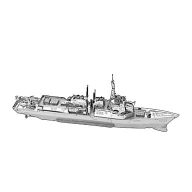 levne 3D puzzle-3D puzzle Kovové puzzle Válečná loď Udělej si sám Nábytek Kovový Chrome Klasické Unisex Hračky Dárek