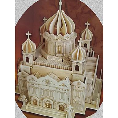 levne 3D puzzle-3D puzzle Puzzle Modele Kostel Katedrála Krista Spasitele Udělej si sám Simulace Dřevěný Klasické Dětské Dospělé Unisex Hračky Dárek