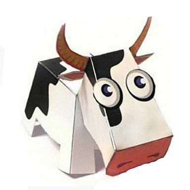 levne 3D puzzle-3D puzzle Papírové modely Modele Cow Zvířata Udělej si sám lepenkový papír Klasické Animák Dětské Unisex Hračky Dárek