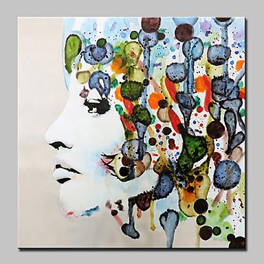 povoljno Ulja na platnu-Hang oslikana uljanim bojama Ručno oslikana - Ljudi Sažetak Moderna Bez unutrašnje Frame / Valjani platno