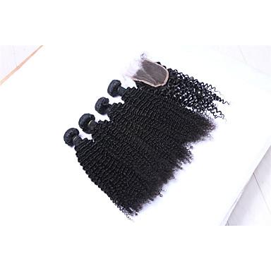 povoljno Ekstenzije od ljudske kose-Brazilska kosa Kinky Curly Kovrčavog tkanja Ljudska kosa Ljudske kose plete Isprepliće ljudske kose Proširenja ljudske kose