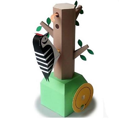 levne 3D puzzle-3D puzzle Papírové modely Modele Ptáček Datel Udělej si sám Klasické Dětské Unisex Hračky Dárek