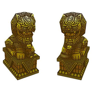 levne 3D puzzle-3D puzzle Papírové modely Modele Lev Udělej si sám Simulace Klasické Unisex Hračky Dárek