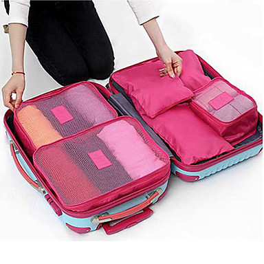 6 sets travel bag packing cubes travel luggage organizer packing organizer waterproof dust. Black Bedroom Furniture Sets. Home Design Ideas