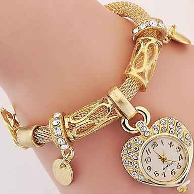 levne Pánské-Dámské Módní hodinky Náramkové hodinky Digitální Kov Stříbro / Zlatá Analogové Stříbrná Zlatá