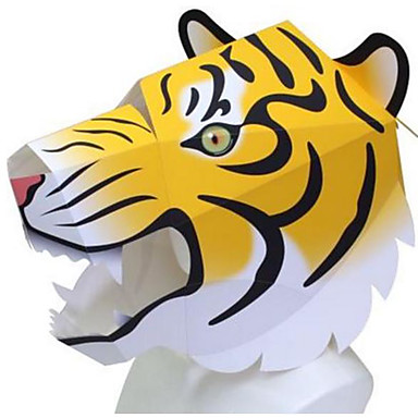 [$7 99] Halloween Mask Animal Mask Paper Craft Animals DIY Dog Lion Bear  Hard Card Paper Classic Pieces Adults' Unisex Toy Gift