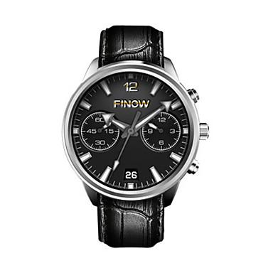levne Pánské-Pánské Inteligentní hodinky Digitální Kůže Černá Analogové Černá stříbrná / černá