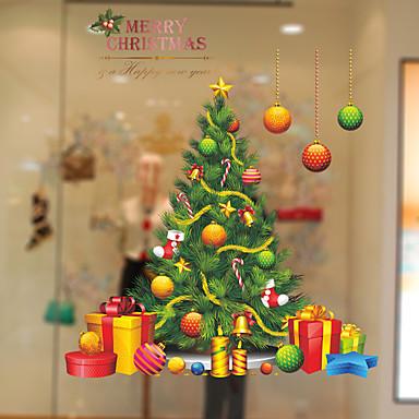 window film stickers decoration christmas trees leaves pvc vinyl window sticker 6028019 2018 807 - Christmas Decorative Window Film