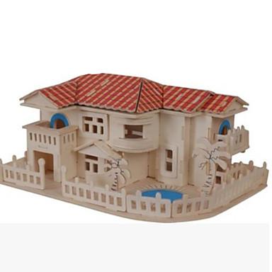 levne 3D puzzle-3D puzzle Puzzle Dřevěné puzzle Slavné stavby Dům Udělej si sám Dřevěný Přírodní dřevo Klasické Dětské Dospělé Unisex Hračky Dárek