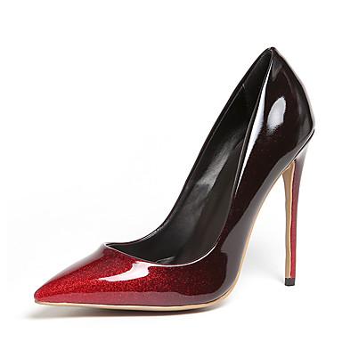 Mujer Zapatos Cuero Primavera verano Pump Básico Tacones Tacón Stiletto Dedo Puntiagudo Plata / Rojo / Rosa / Fiesta y Noche P52wuqA