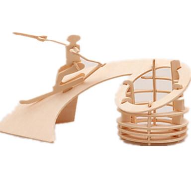 levne 3D puzzle-3D puzzle Puzzle Dřevěný model Letadlo Slavné stavby Nábytek Udělej si sám Dřevěný Klasické Dětské Unisex Hračky Dárek